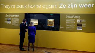 Two stolen Van Gogh paintings back on display in Amsterdam