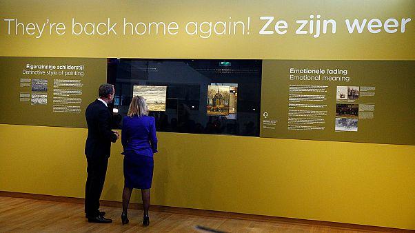 Two stolen Van Gogh paintings back on display in Amsterdam