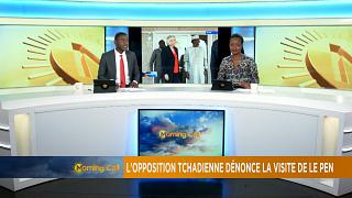 Tchad : l'opposition tchadienne contre la visite de Marine Le Pen [The morning call]