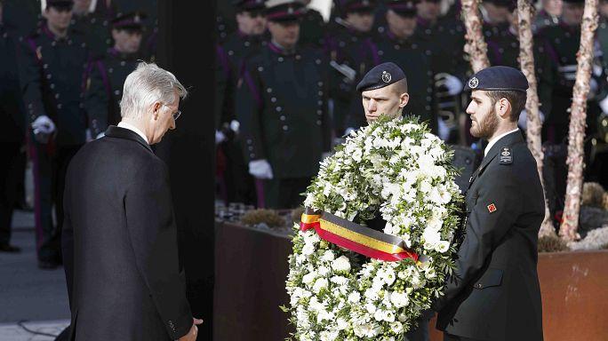 Brüksel saldırısının yıldönümünde kurbanlar için anma töreni