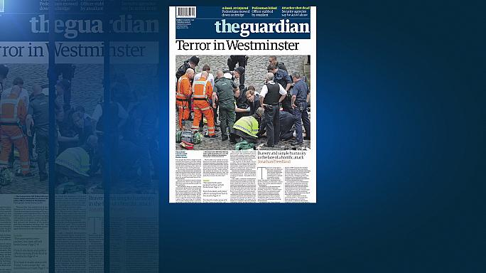 """""""Terror"""" dominates UK's front pages"""