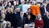 Northern Ireland: thousands attend Martin McGuinness funeral