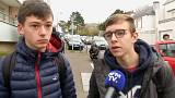 London attack: French school children fly home
