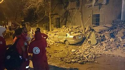At least nine injured in Cairo building collapse after 3.3 earthquake struck Egypt