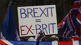 Londra'da onbinlerce kişi AB için yürüdü