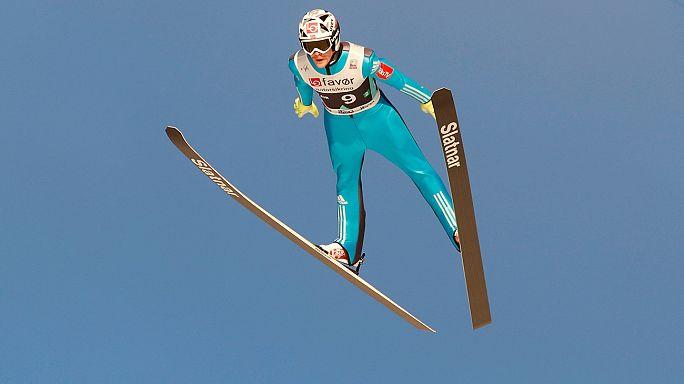 Noruega gana la última prueba por equipos de saltos de esquí de la temporada