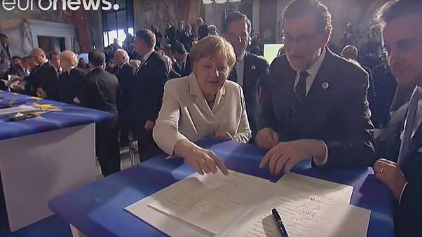 Watch: whose signature is that? Confusion at the Declaration of Rome signing