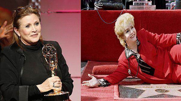 В Голливуде почтили память Кэрри Фишер и Дебби Рейнольдс
