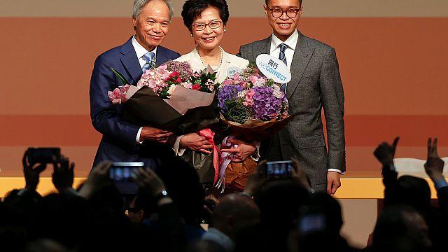 Hong-Kong : la favorite de Pékin, Carrie Lam, désignée cheffe du gouvernement