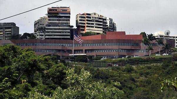 Image: The United States Embassy in Caracas, Venezuela, on Jan. 24, 2019.