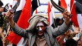مظاهرة حاشدة في صنعاء في الذكرى الثانية لبدء الحملة العسكرية للتحالف العربي