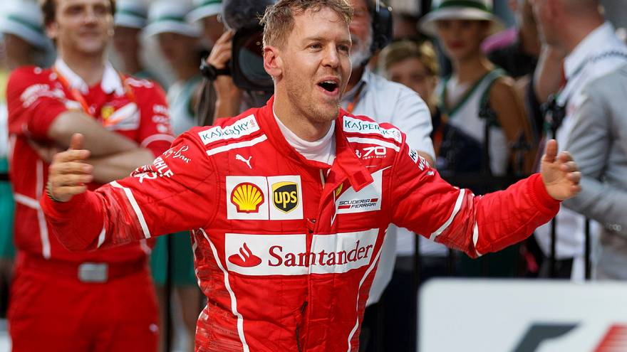 F1'de ilk zafer Vettel'in