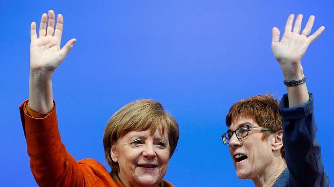 Saarland seçimlerinde Merkel'in partisi zirvede