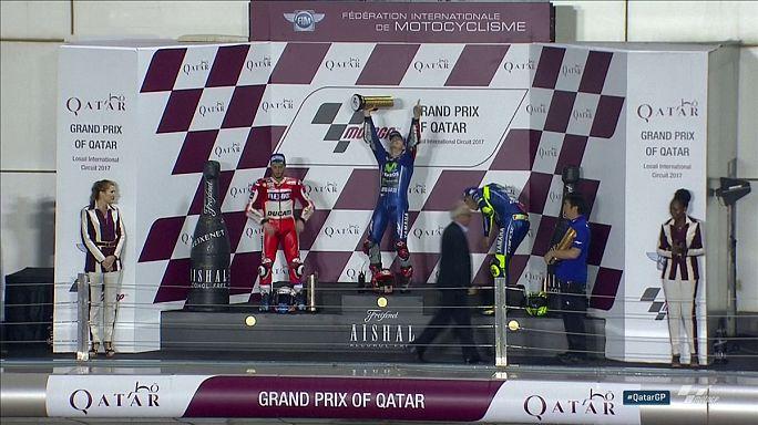 MotoGp: Vinales vince in Qatar, sul podio Dovizioso e Rossi
