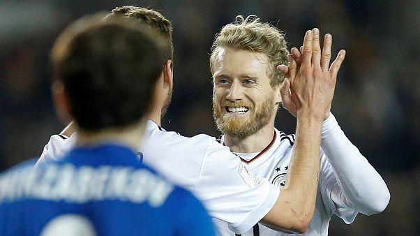 André Schürrle brace sees Germany thrash Azerbaijan