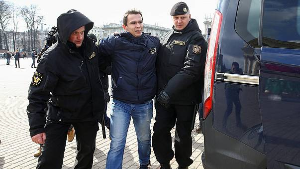 Minsk protesters arrested after calling for the release of colleagues