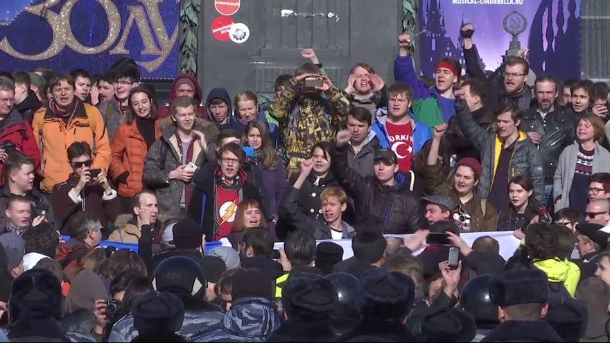 اعتقالات في موسكو بعد مظاهرات ضد الفساد