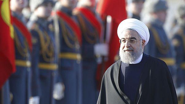 Iran's President Hassan Rouhani arrives in Russia for Kremlin talks