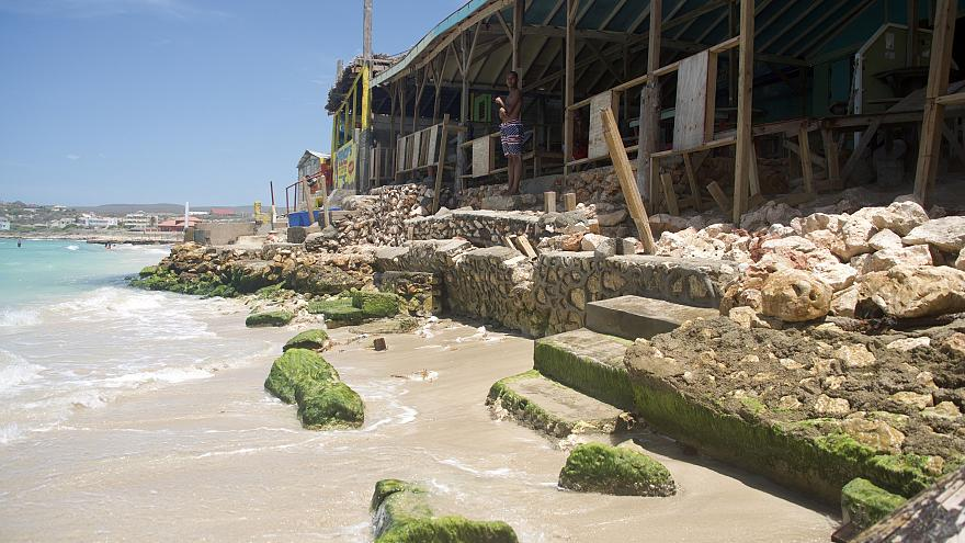 Warming seas and Jamaica's disappearing beach