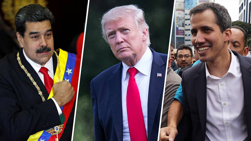Image: Nicolas Maduro, Donald Trump, Juan Guaido