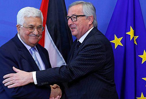 Palestinian Authority president meets senior EU figures in Brussels