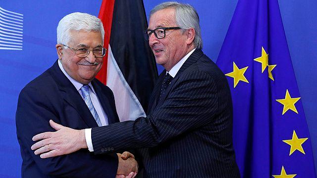 الرئيس الفلسطيني محمود عباس في بروكسل للقاء كبار المسؤولين الأوروبيين.
