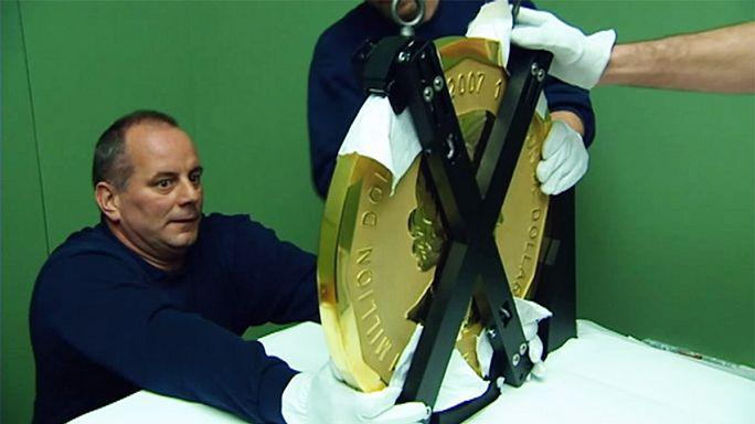 Berlin Bode Müzesi'ndeki 100 kiloluk saf altın sikke çalındı