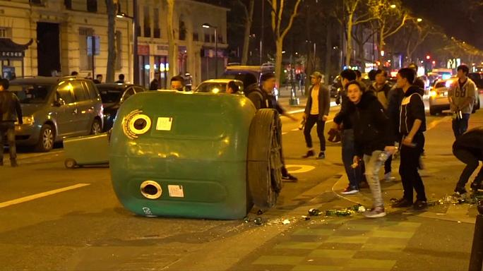 Paris'te Çinli göçmenler polisle çatıştı