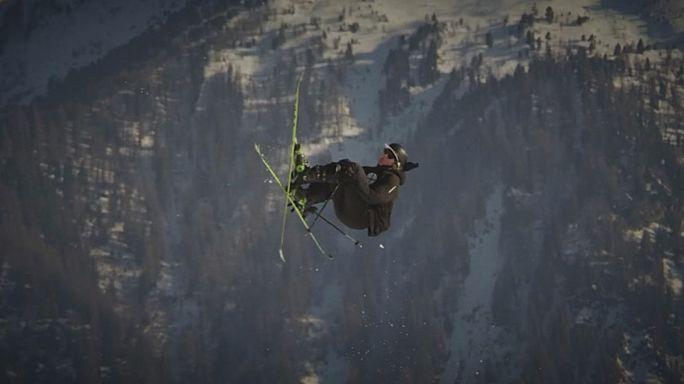 Исторический прыжок швейцарского фристайлиста