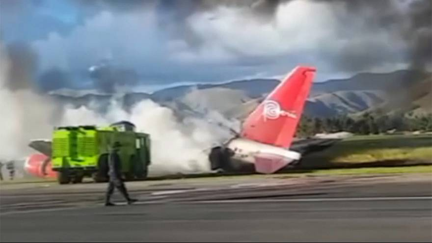 Passenger jet catches fire in Peru - no injuries reported