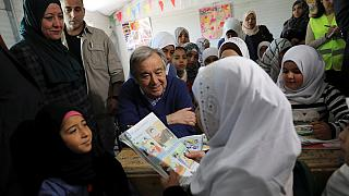 غوتيريس يزور مخيم الزعتري للاجئين في الأردن