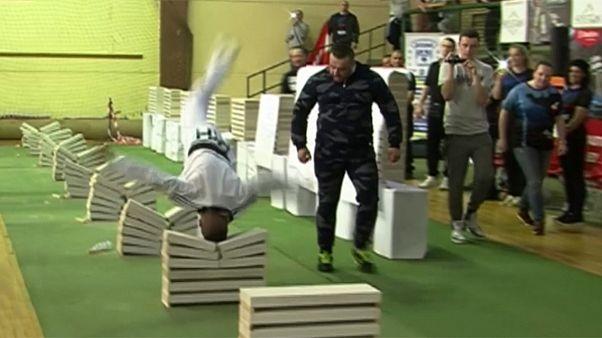 Bosnian taekwondo champion sets record for crushing blocks with his head