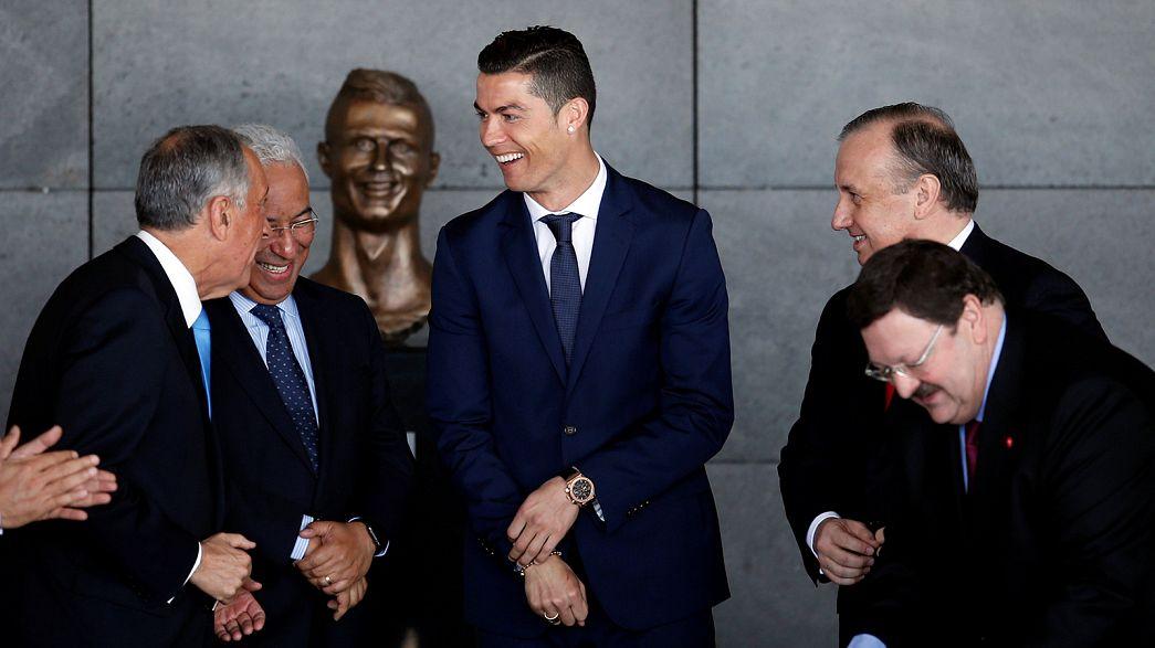 Cristiano Ronaldo a son aéroport !