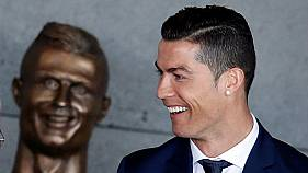 Bizarre bust of Ronaldo unveiled