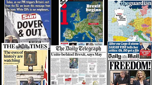 El inicio del 'Brexit' copa las portadas de la prensa europea
