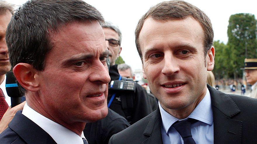فالس يدعم ماكرون في انتخابات الرئاسة الفرنسية