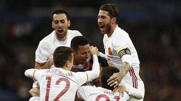 Video technology helps Spain down France