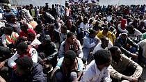 More than 400 migrants rescued at sea off Libya