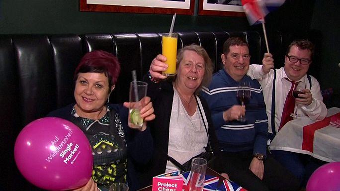 Nach der Brexit-Erklärung: Freude und Trauer in London