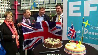 Candeline per l'Art. 50. A Bruxelles lo UKIP festeggia con una torta