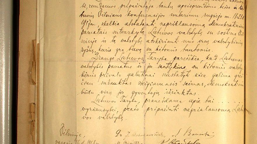 Professor finds long-lost Lithuanian declaration of independence