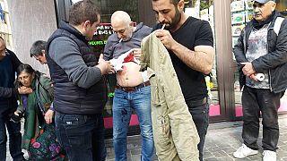 Cuatro heridos en Bruselas tras el choque entre opositores y partidarios a la consulta de Erdogan
