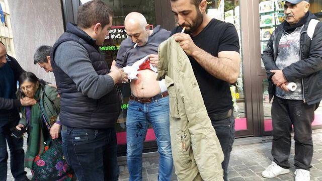 В Брюсселе сторонники и противники Эрдогана устроили драку с поножовщиной