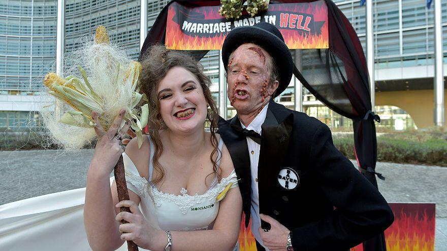 """Ils miment le """"mariage en enfer"""" Bayer-Mosanto"""