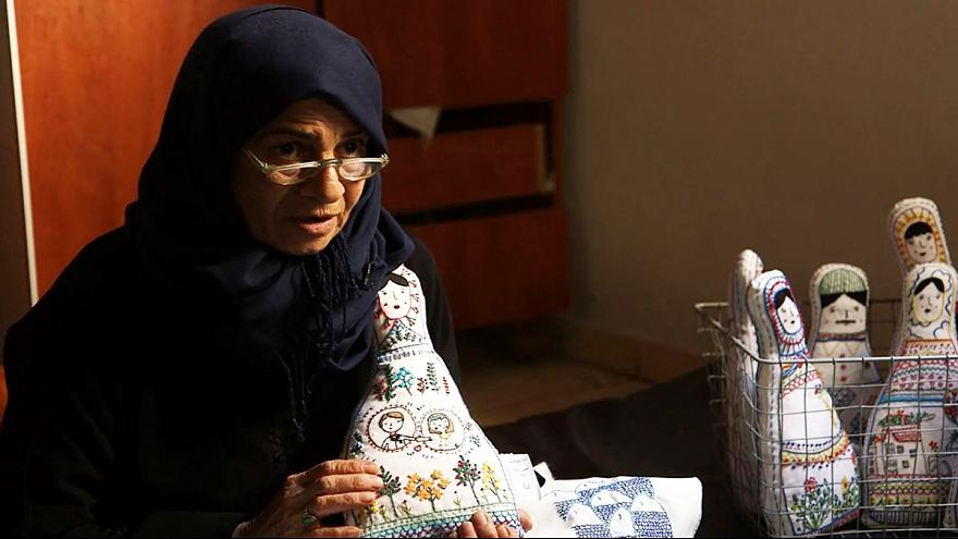 Embroidered dolls tell the stories of mothers in war-torn Aleppo