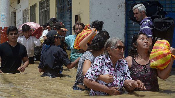 Inundações no Peru