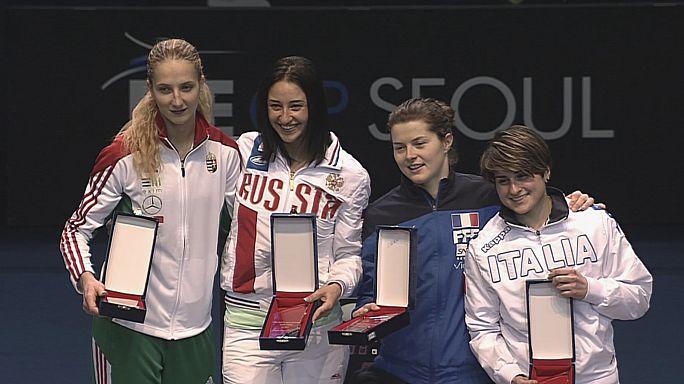 Yana Egorian no falla en el Gran Premio de Seúl de esgrima