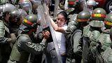 Choques en Caracas en una protesta opositora