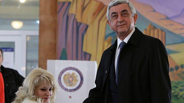 Ermenistan'da halk parlamento seçimleri için sandık başında