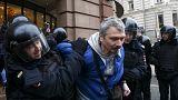 Una treintena de opositores detenidos en Moscú en una marcha no autorizada